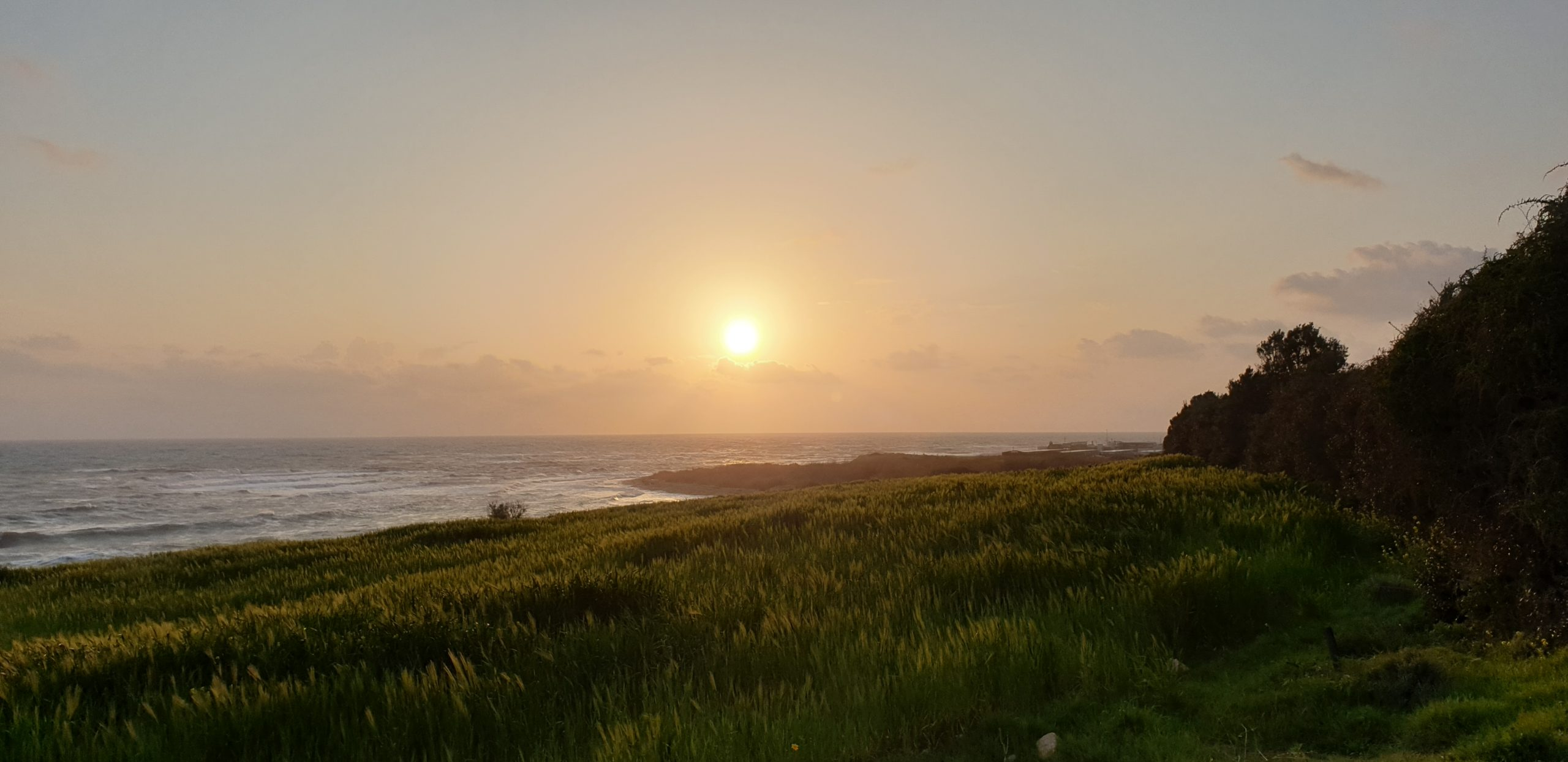 Sonnenuntergang auf Zypern in Februar
