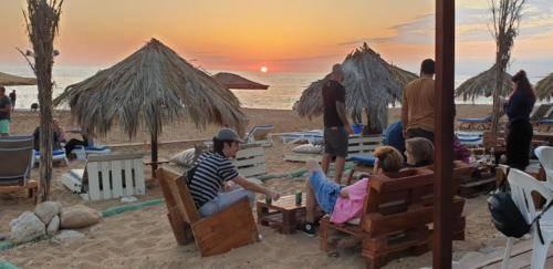 Sandy Beach Paphos Sonnenuntergang 2019
