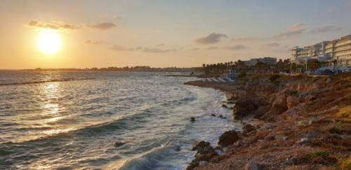 Zypern 2019 Sonnenuntergang in Paphos. So sieht Juli auf der Insel