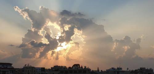 Sonnenuntergang auf Zypern in Exo Vrisi.