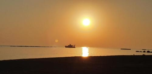 Sonnen Untergang Paphos SODAP Beach mai 2020 nach COVID Lockdown