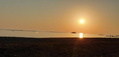 Sonnenuntergang auf Zypern in Juni 2019