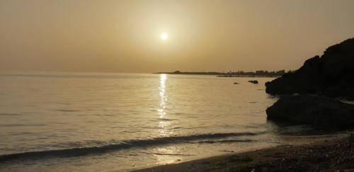 Sonnen Untergang Paphos SODAP Beach